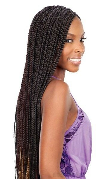 Crochet Braids Ebay : FreeTress Synthetic Hair Crochet Braid SMALL Box Braids eBay
