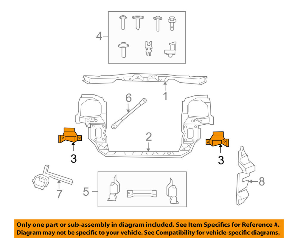 2010 Volkswagen Routan Radiator Engine Diagram Vw Oem Core Support Side Bracket Right Ebay 1000x798