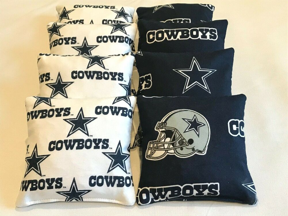 Dallas Cowboys Cornhole Bean Bags Set Of 8 Bag Toss Game
