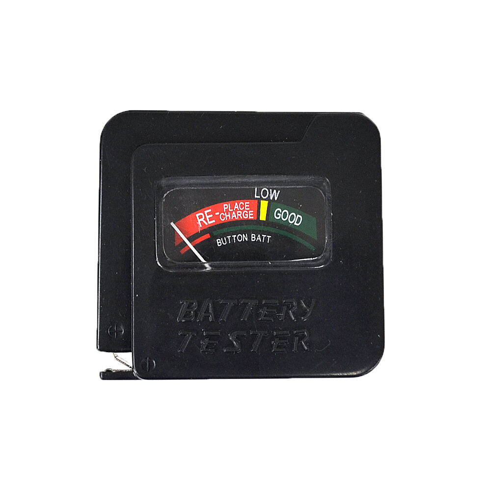 aa aaa c d 9v 1 5v universal button cell battery tester checker black ebay. Black Bedroom Furniture Sets. Home Design Ideas