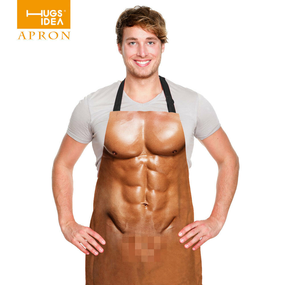 3D Novelty Sexy Naked Mens Womens Cooking Apron Bbq Funny -7328