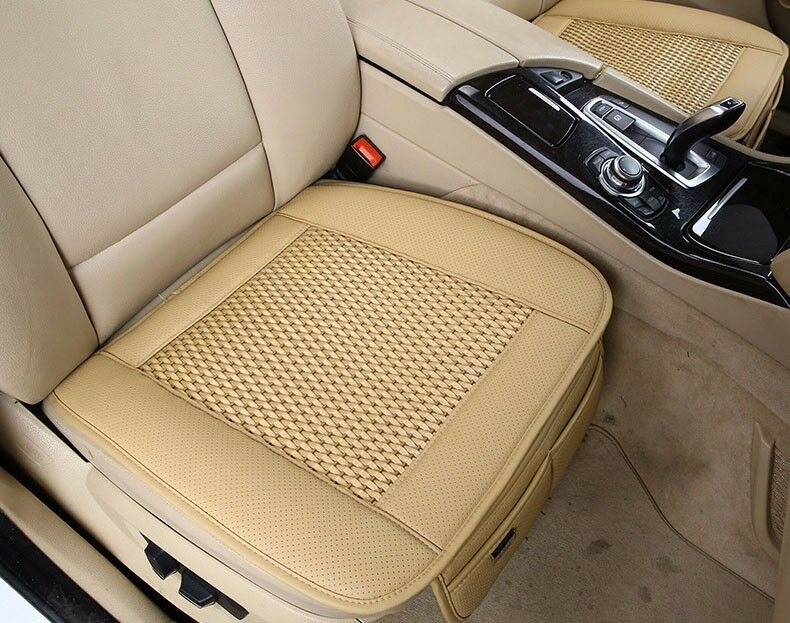 pu leather car seat pad bamboo charcoal mat for auto chair cushion rear seat ebay. Black Bedroom Furniture Sets. Home Design Ideas