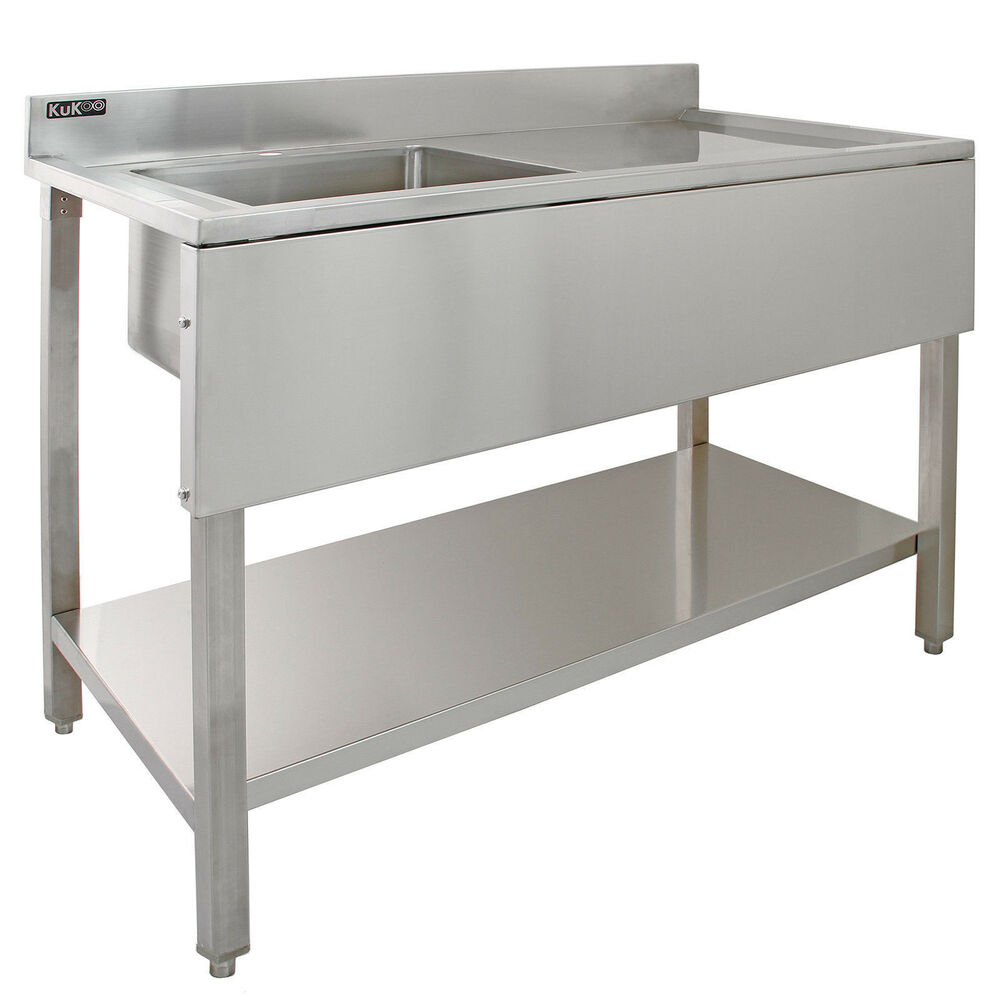 Industrial Kitchen Sink: Commercial Sink Stainless Steel Catering Kitchen Single