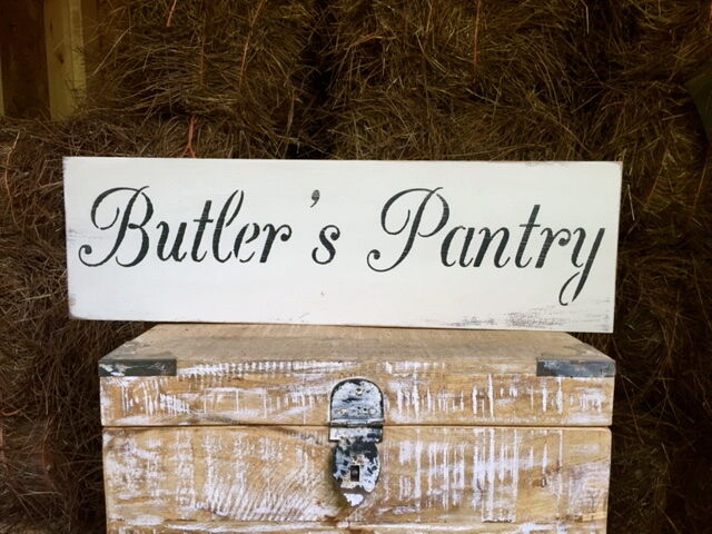 Large Rustic Wood Sign Quot Butler S Pantry Quot Vintage