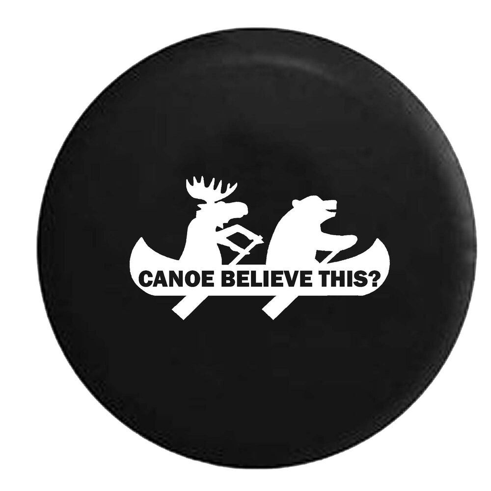 Moose Bear Canoe Outdoors Funny Camping Jeep Spare Tire