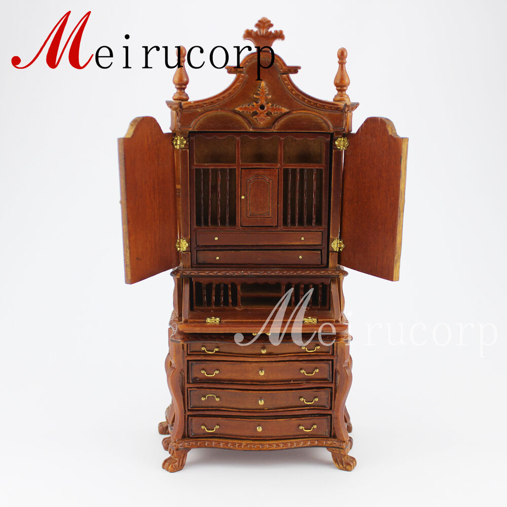 Dollhouse 1/12 Scale Miniature Furniture Hand Carved Study