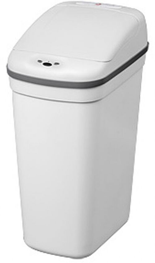 White Plastic Kitchen Trash Can