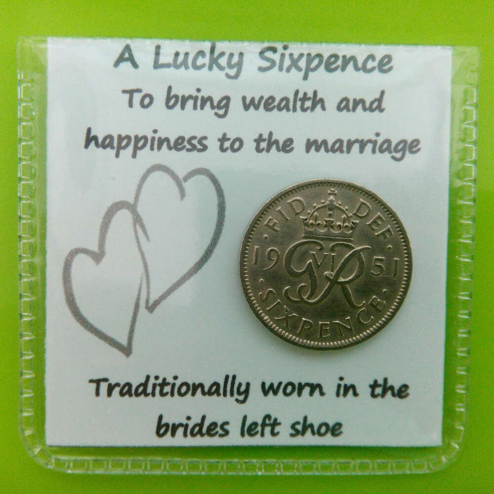 Lucky Sixpence For The Brides Shoe Gift Keepsake Civil Same Sex