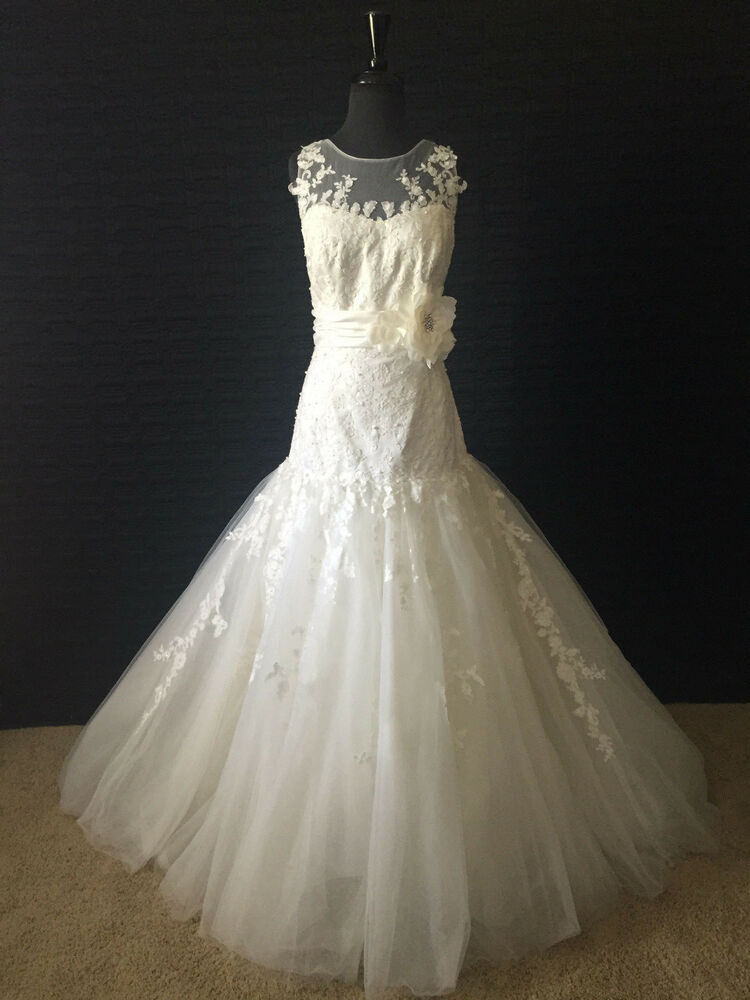 Alfred angelo wedding dress ivory size 14 2368 ebay for Wedding dress in ebay