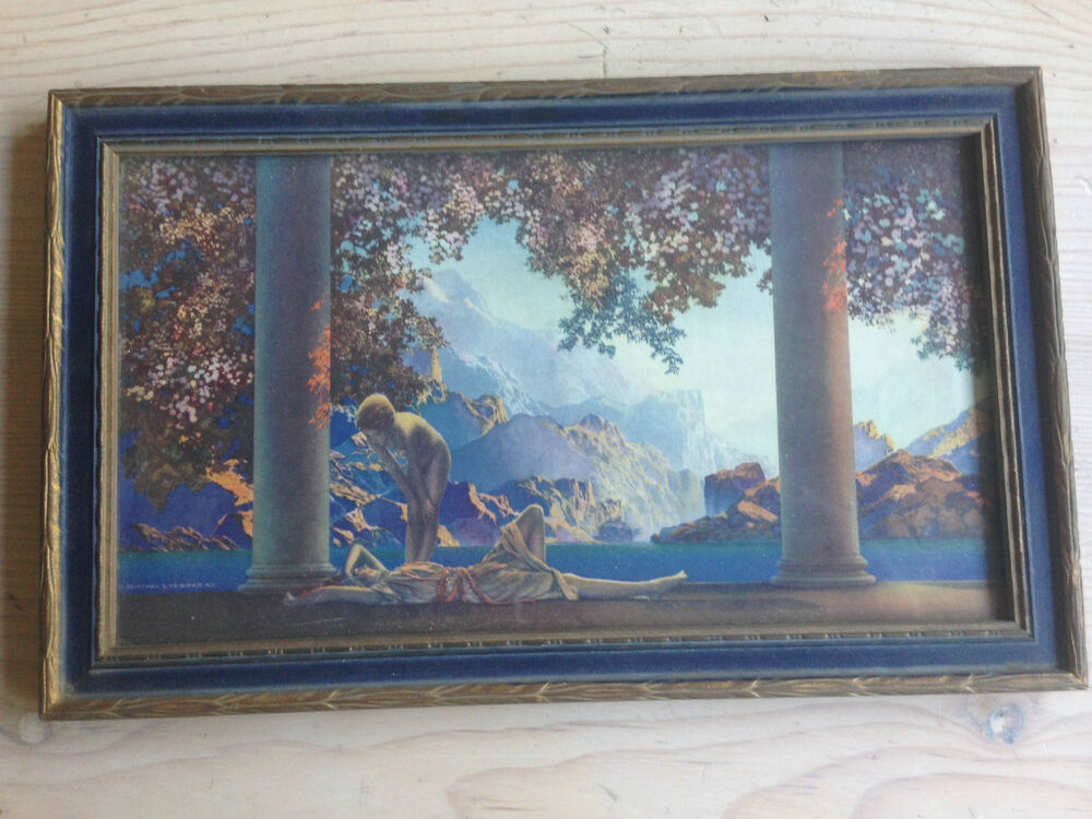 Antique Maxfield Parrish Quot Daybreak Quot Print Ebay