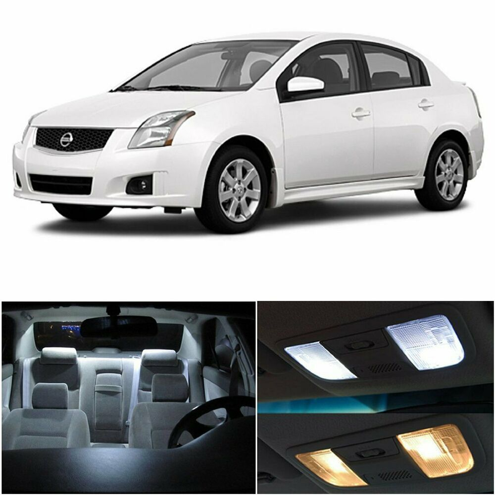 6x Led Bulb White Light Interior Package Kit Deal For Nissan Sentra