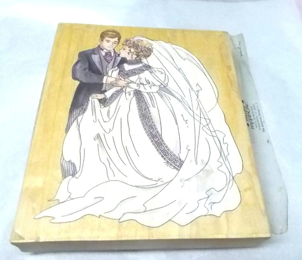 Wedding Rubber Stamps: Wedding Couple Rubber Stamp By Stamps Happen 90038 Bride