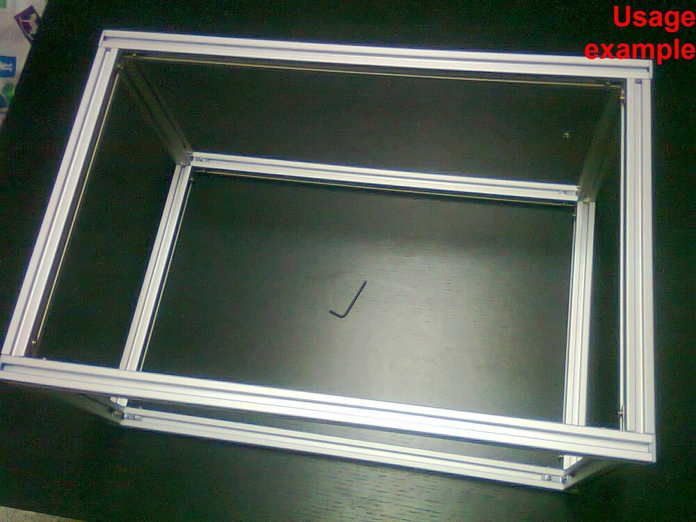 aluminum t slot extruded profile 20x20 6 table or box frame size 600x540x440mm ebay. Black Bedroom Furniture Sets. Home Design Ideas