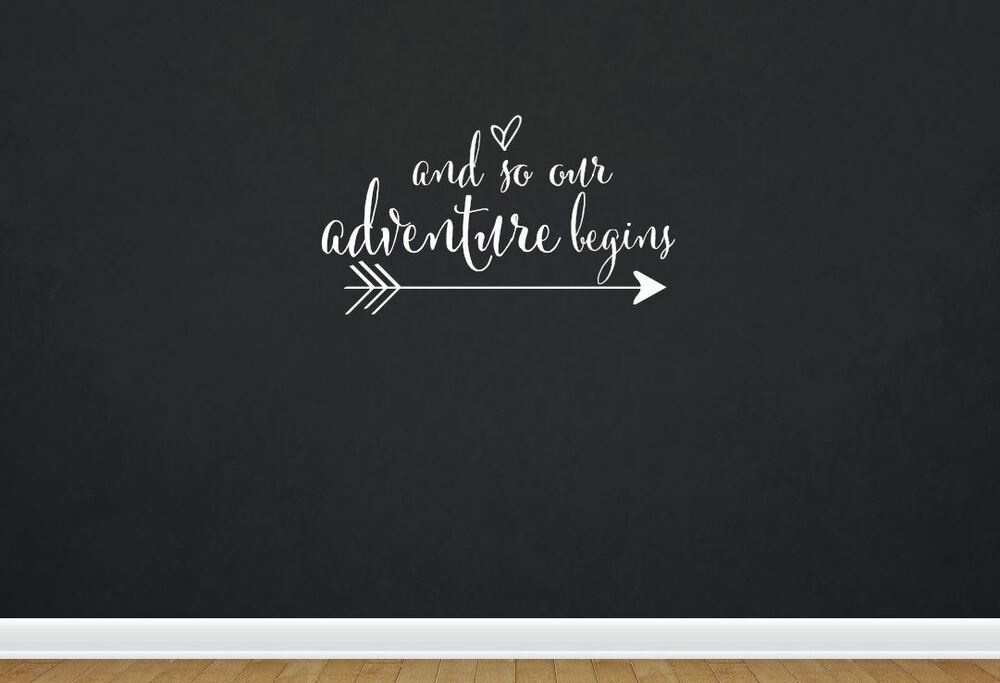 And So Our Adventure Begins Quote Wall Decal Removable