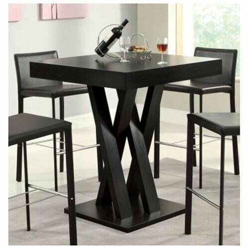 Square Bar Table Room Kitchen Pub Dining Furniture Bistro