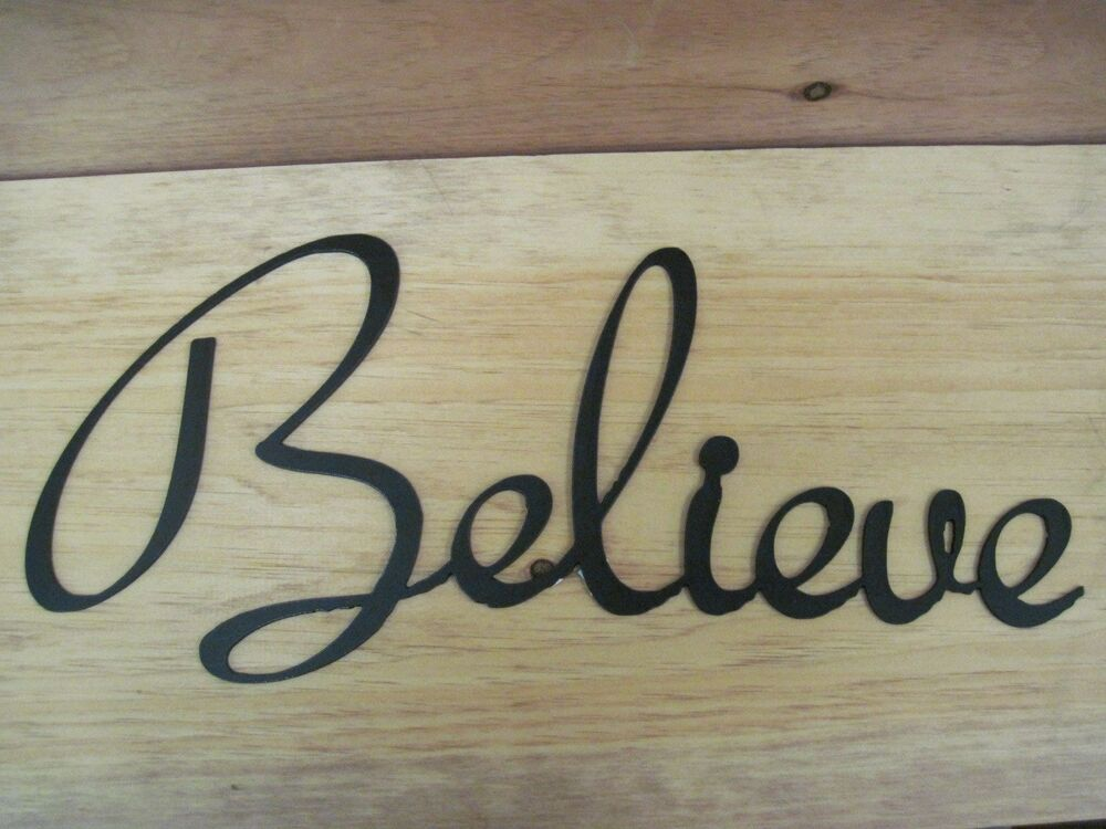 Believe-Black Wrought Iron Wall Art Metal Home Decor
