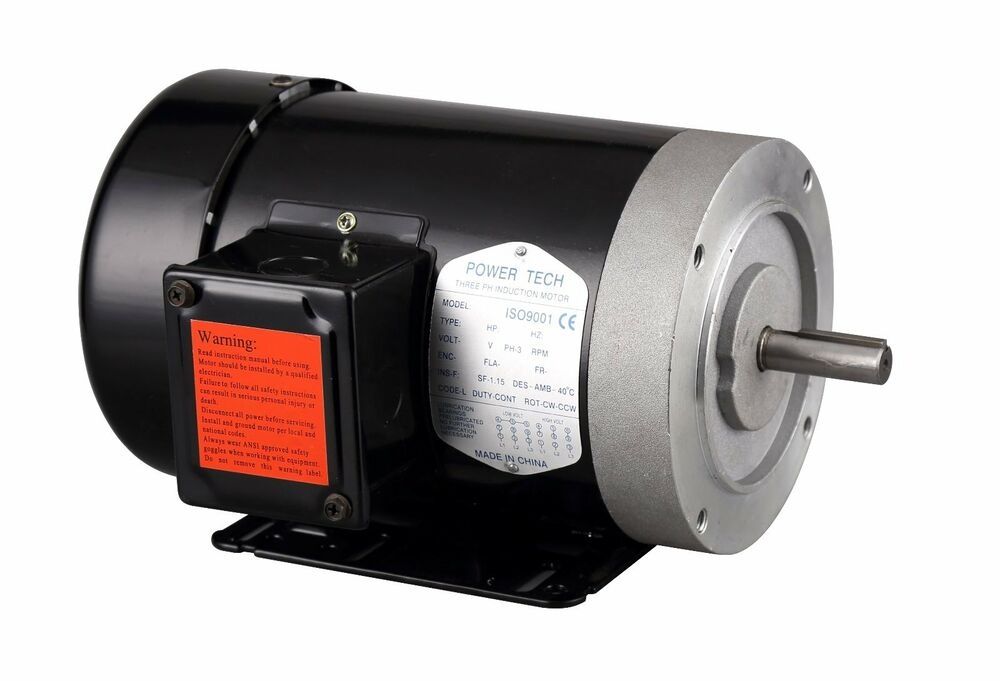 1 hp electric motor 56c 5 8 3 phase 230 460v 3450rpm for 3 phase 3hp motor