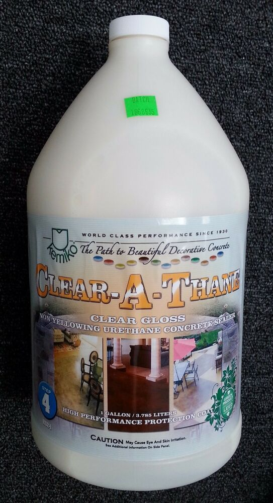 Kemiko Clear A Thane Non Yellowing Urethane Concrete Sealer Gloss Ebay