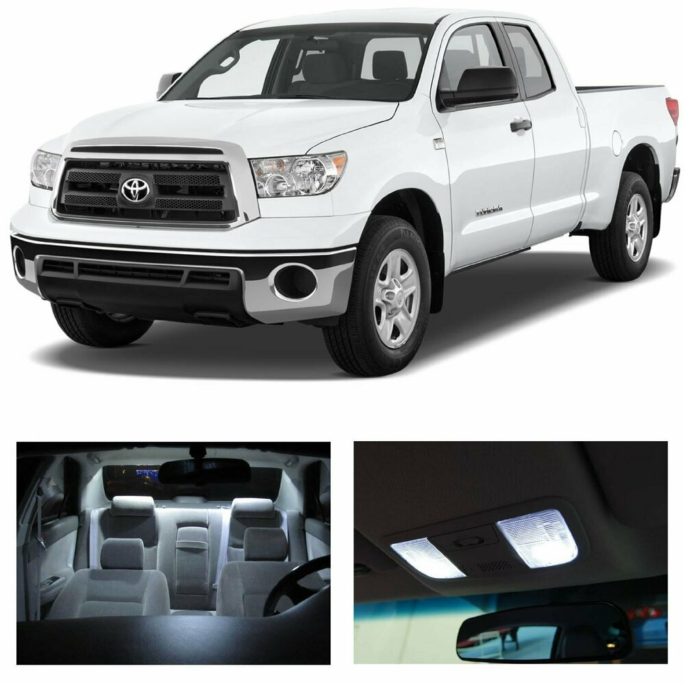 14 X Premium White Led Lights Interior Package Kit For Toyota Tundra 2007 2016 Ebay