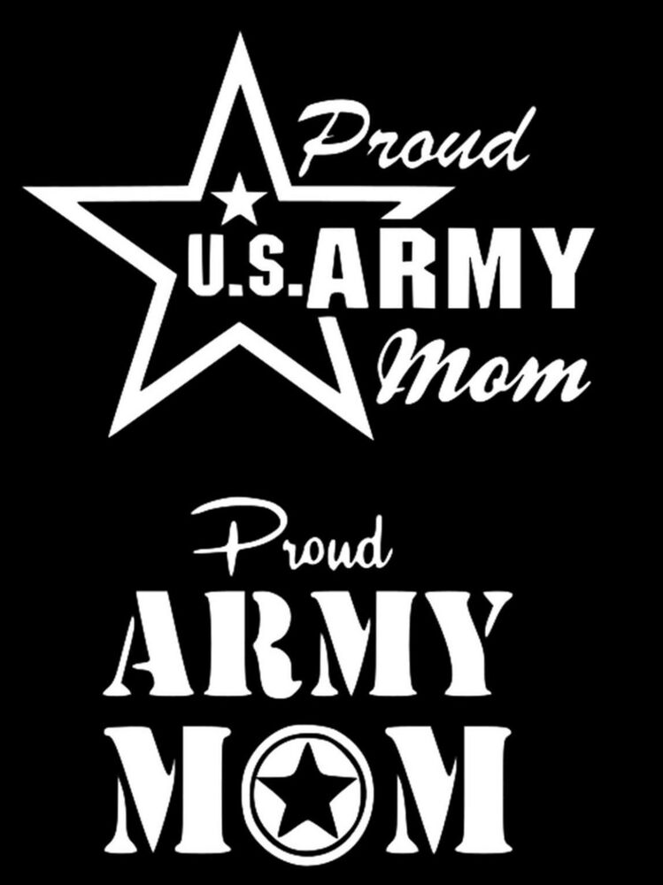Proud Us Army Mom United States Car Truck Window Laptop