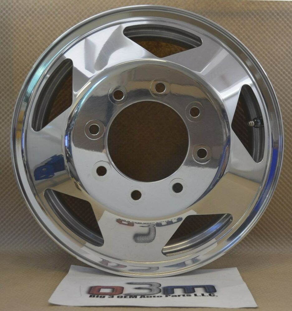 1999 2009 Ford Super Duty Dually Front Wheel Polished