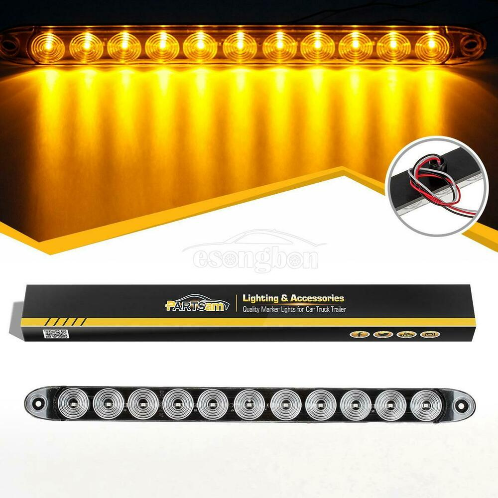 Trailer Truck Amber 11 Led 15 Quot Turn Signal Clearance
