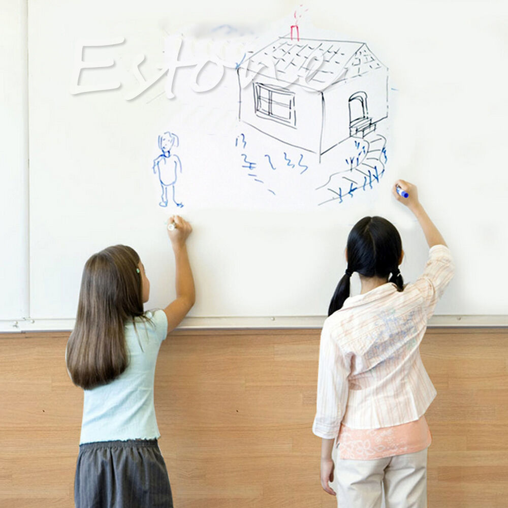 Removable whiteboard office wall sticker kids drawing for Stuff to draw on a whiteboard