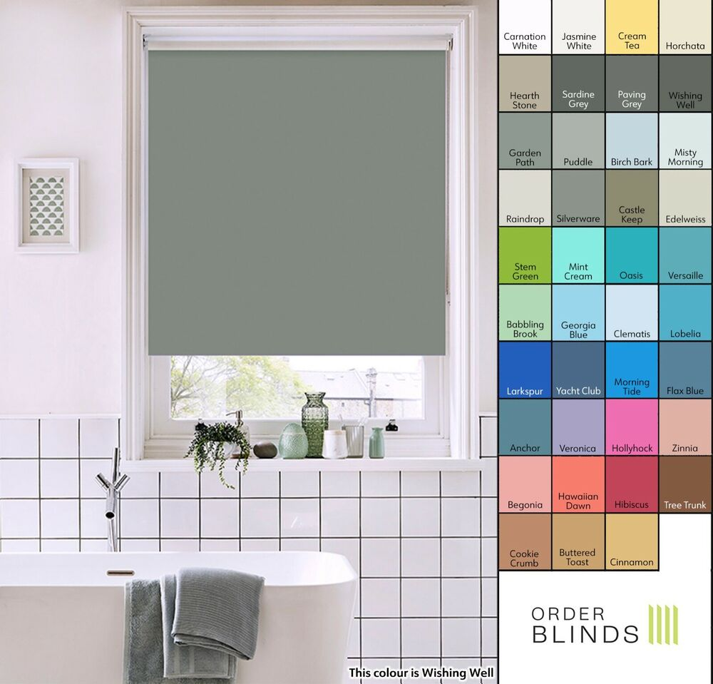Waterproof Roller Blinds Made To Measure In 18 Colours
