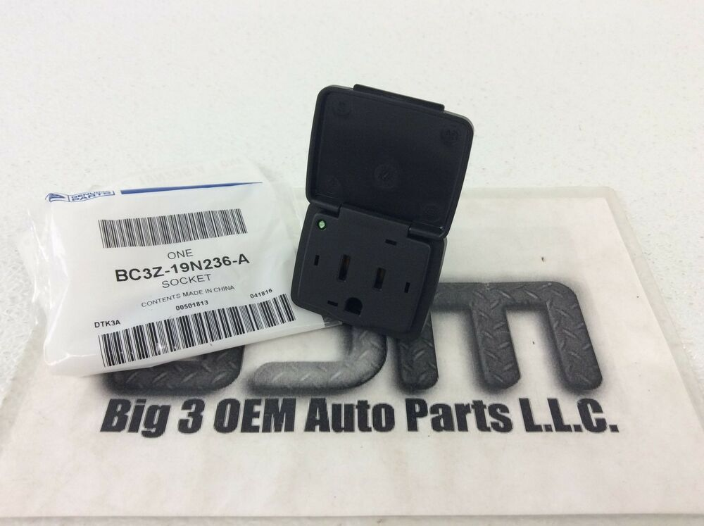 Ford Lincoln Center Console Rear Power Outlet Plug 110v