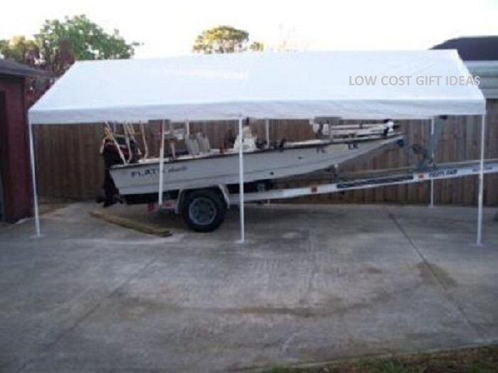 Driveway Car Tent : Portable vehicle cover  car boat truck rv shelter