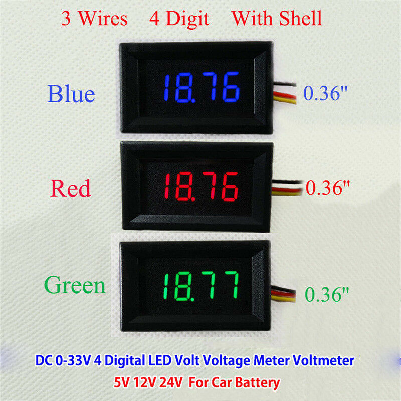 Car Battery Voltage Meter : Dc v digital led volt voltage meter voltmeter