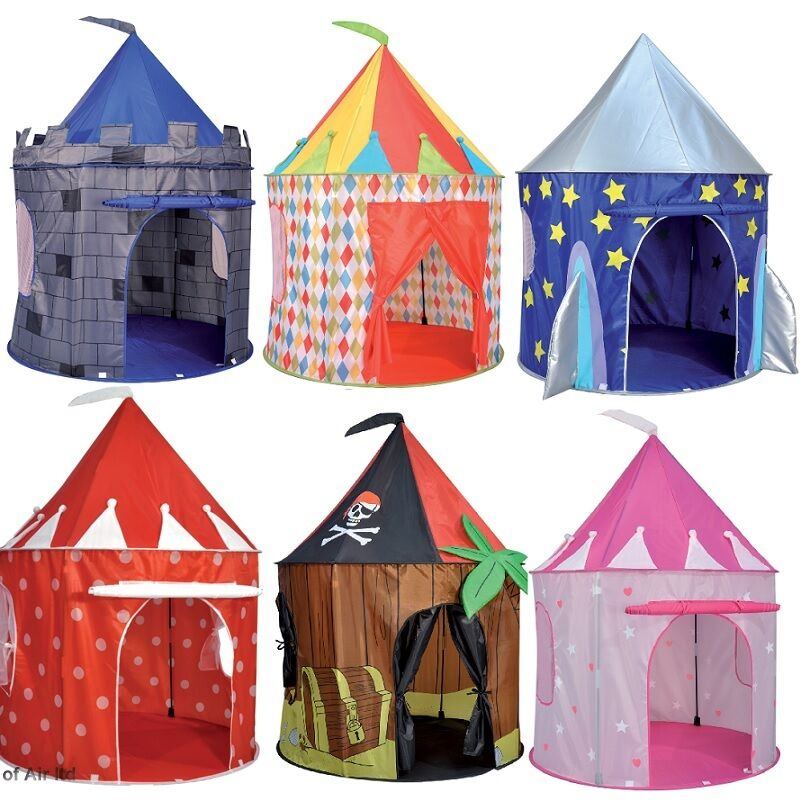 Kids pop up tent play house pirate princess castle and for Tent a house