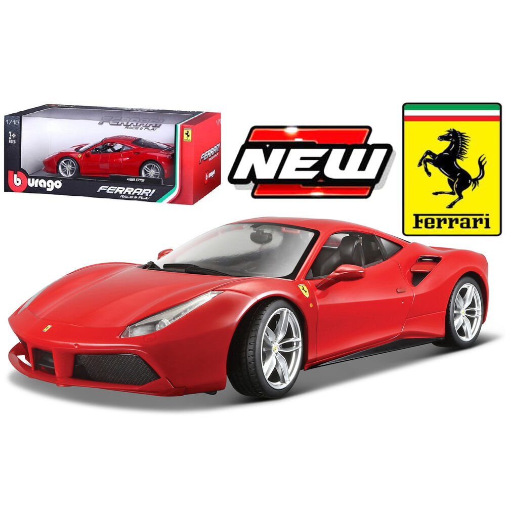 bburago ferrari race play ferrari 488 gtb diecast model. Black Bedroom Furniture Sets. Home Design Ideas