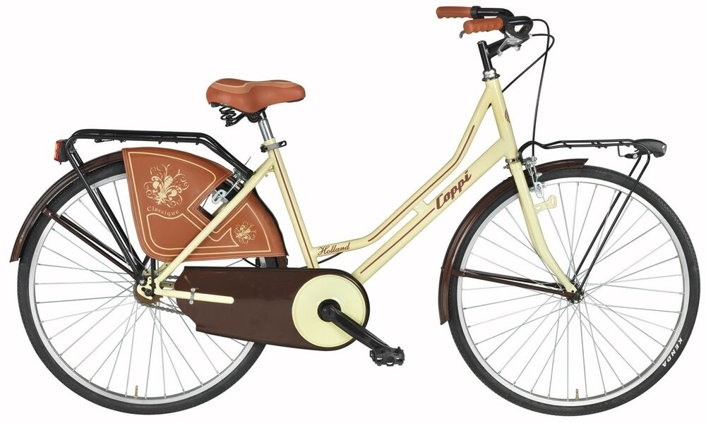 26 damen holland fahrrad coppi liberty damenrad hollandrad cityrad creme licht ebay. Black Bedroom Furniture Sets. Home Design Ideas