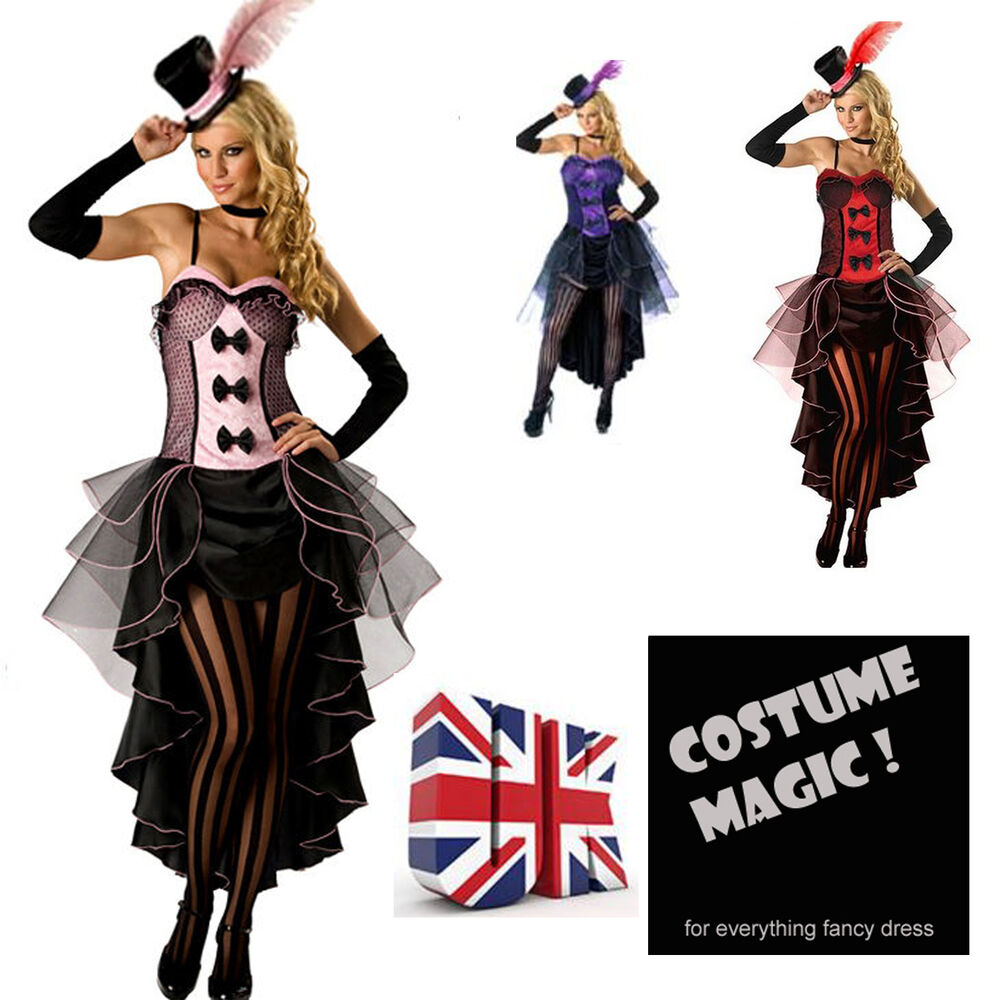 burlesque moulin rouge fancy dress costume can can girl. Black Bedroom Furniture Sets. Home Design Ideas