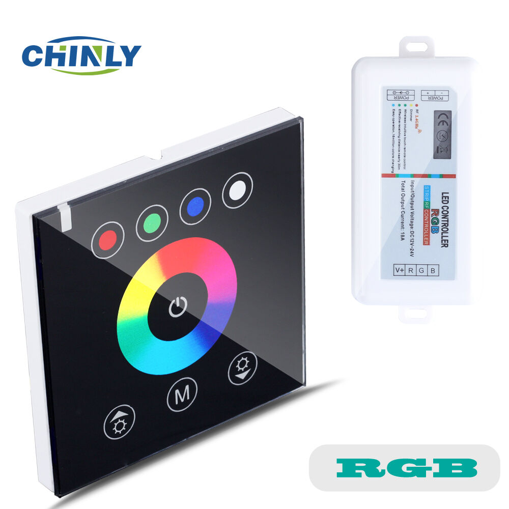 Led Strip Light Wall Dimmer: 2.4G Wireless Wall Switch Touch LED Controller LED Dimmer