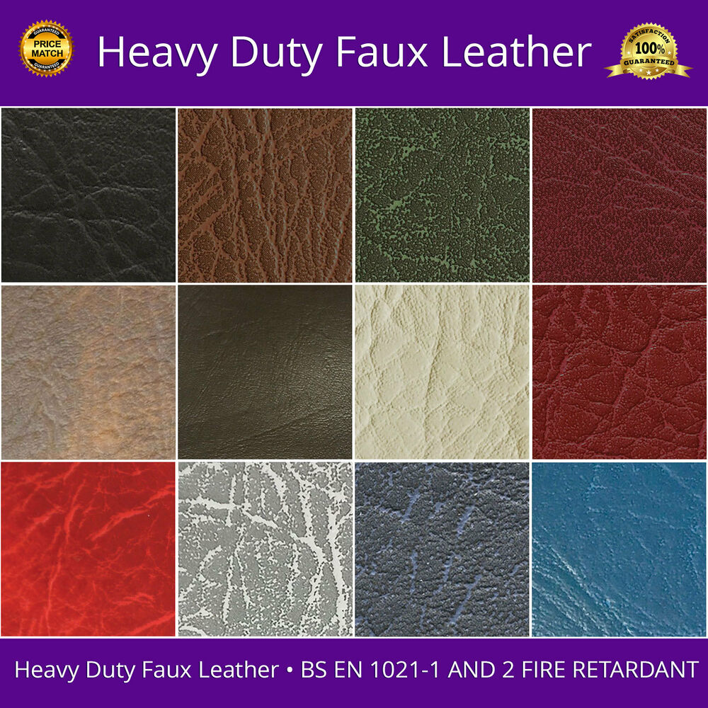 faux leather fabric heavy duty leatherette upholstery vinyl material 54 width ebay. Black Bedroom Furniture Sets. Home Design Ideas