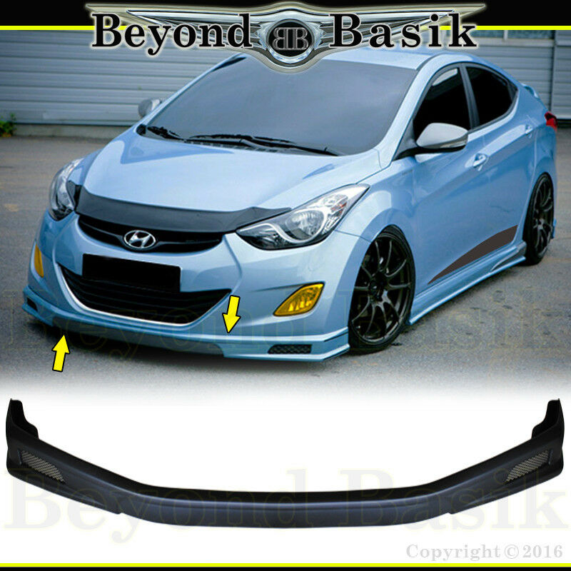 Fits 2011 2013 Hyundai Elantra Sequence Style Front Bumper Splitter Body Kit Ebay