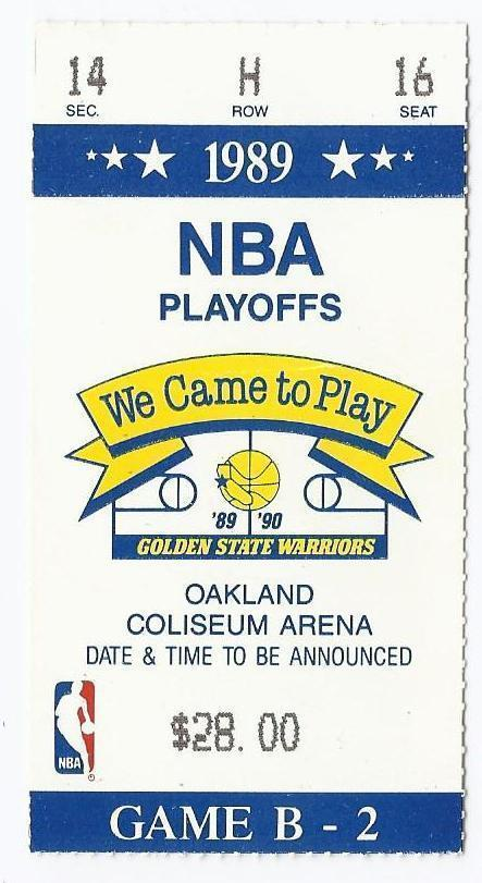 1989 NBA Playoffs Ticket Stub Conference Semi Finals Game ...