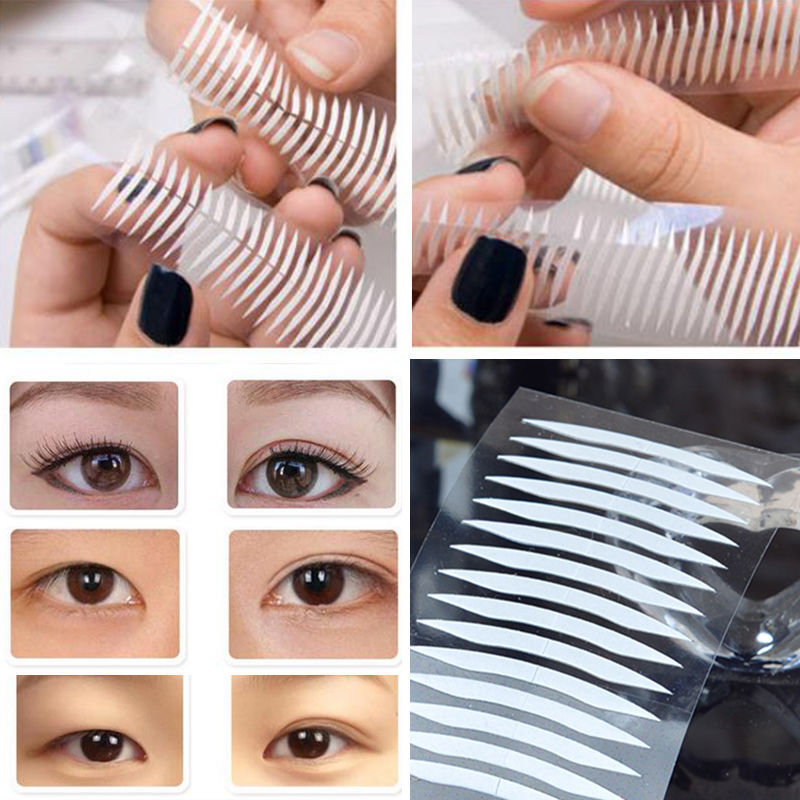 480x White Thin Invisible Double Sided Eyelid Clear