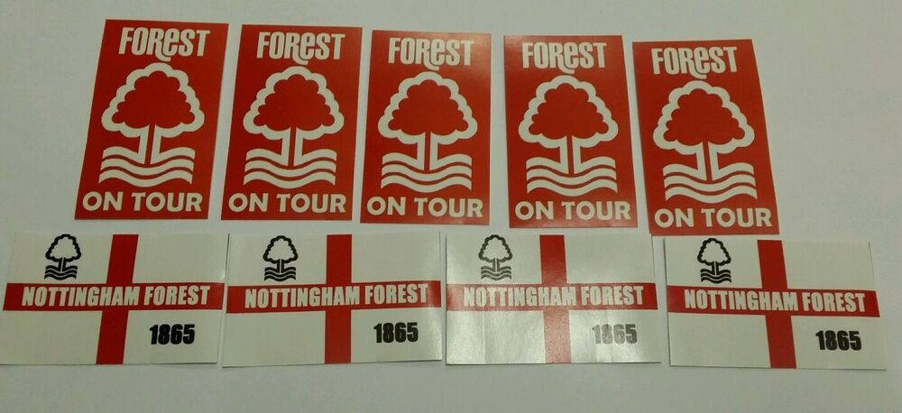 Nottingham forest on tour flag stickers nffc football sticker set 20 ebay