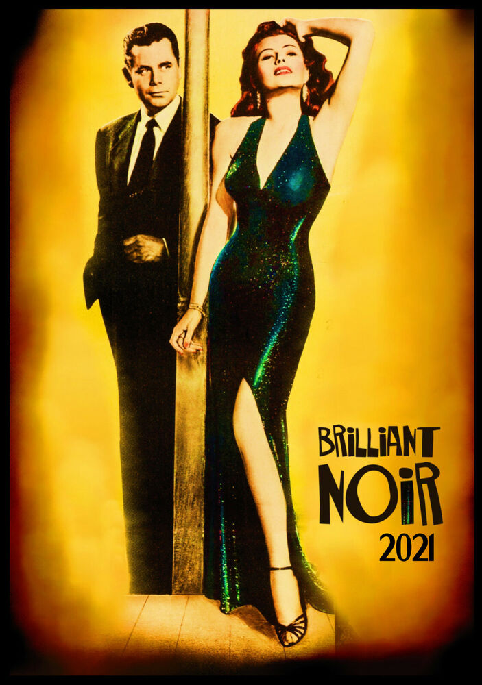 Wall Calendar 2017 12 Pages A4 Film Noir Sexy Lady