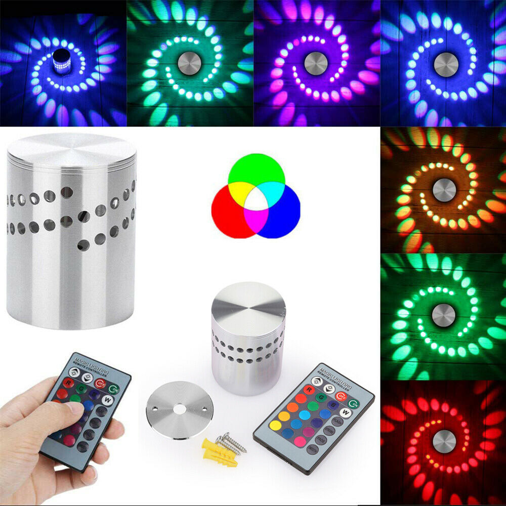 agm led rgb 3w dekor wandlampe wandleuchte effektlicht deckenlampe deckenleuchte ebay. Black Bedroom Furniture Sets. Home Design Ideas