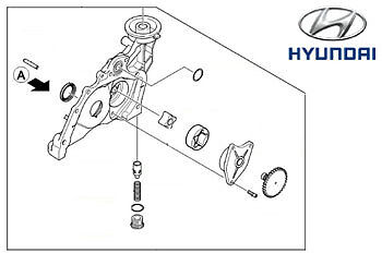 genuine hyundai santa fe engine oil pump 2131027060