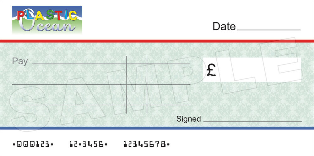 GIANT BLANK COMPANY Large CHEQUE for Charity / Presentation ...