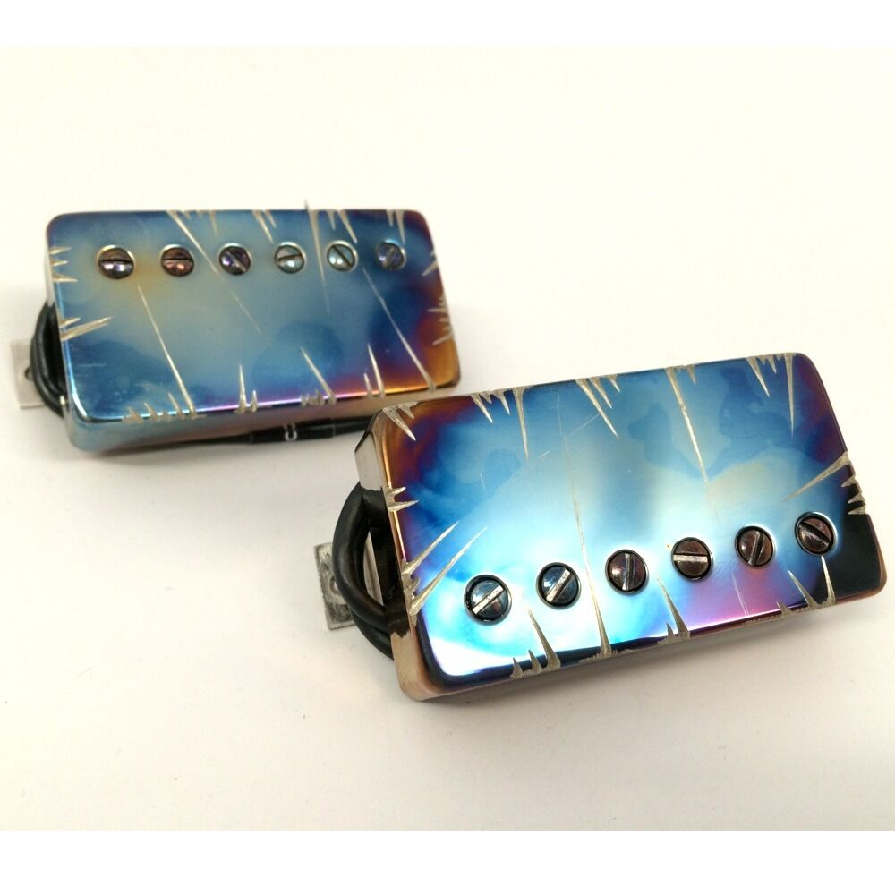 bare knuckle nailbomb humbucker guitar pickup set burnt chrome battleworn covers ebay. Black Bedroom Furniture Sets. Home Design Ideas