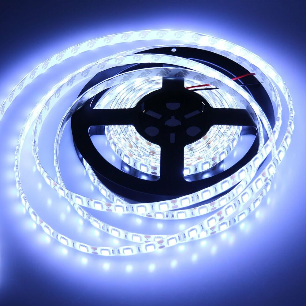 5m 5050 cool white smd waterproof flexible led strip light. Black Bedroom Furniture Sets. Home Design Ideas
