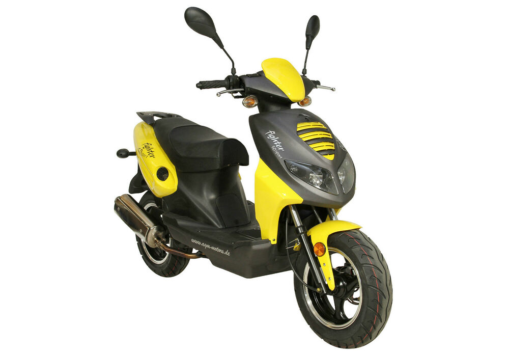 fighter 50 moped roller 50ccm scooter 45 km h motorroller scooter mokick ebay. Black Bedroom Furniture Sets. Home Design Ideas