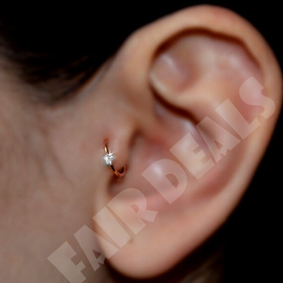 tragus jewelry hoops 3 clear diamante cartilage earring cartilage 1600