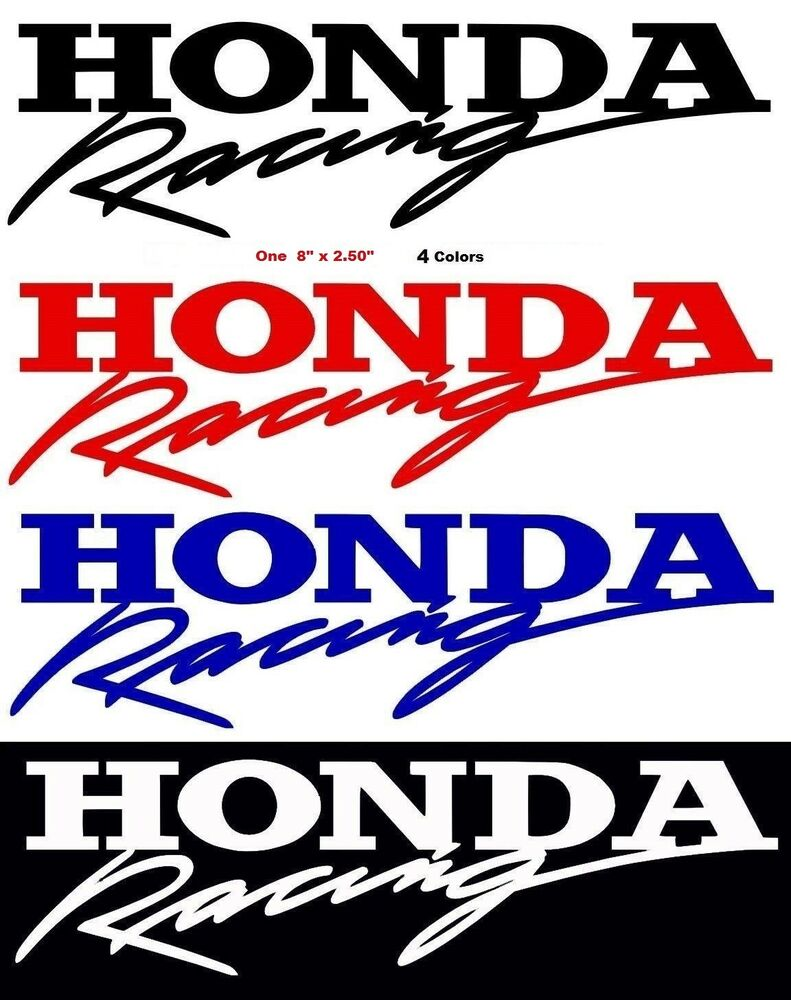Honda Racing Sticker Window Decal Jdm Spoon Civic Accord